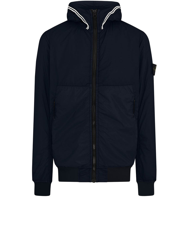 40423 GARMENT DYED CRINKLE REPS NY WITH PRIMALOFT®-TC: Hooded blouson in Navy