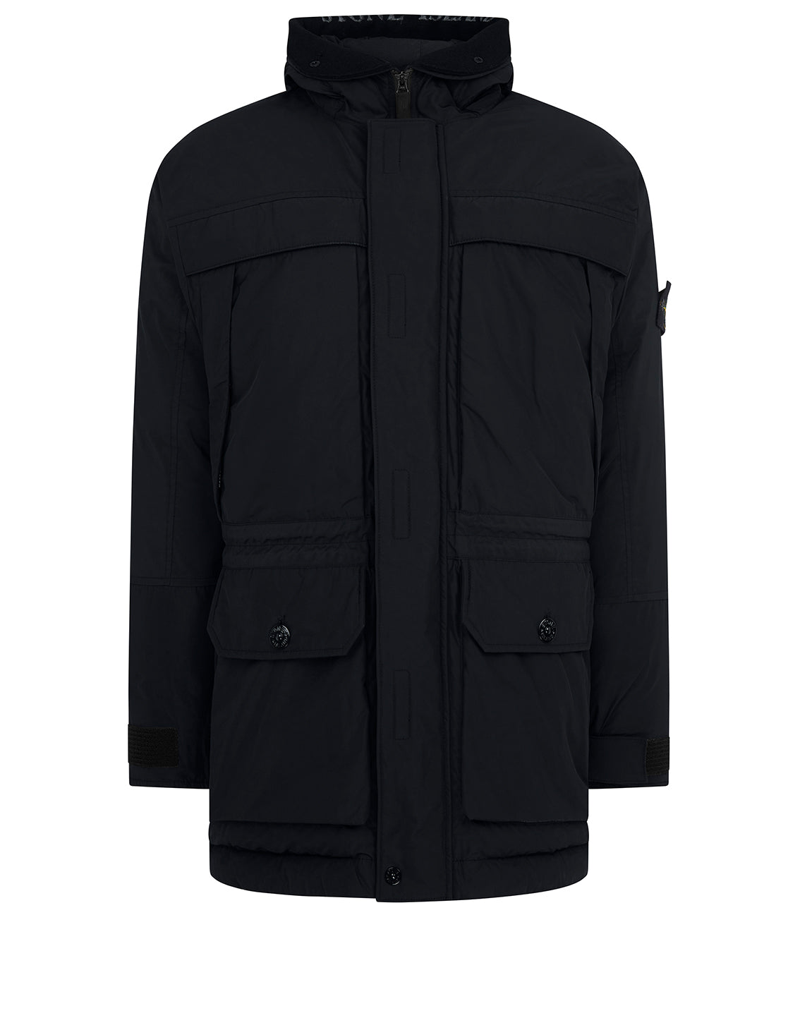 40626 Micro Reps Down Hooded Jacket in Black