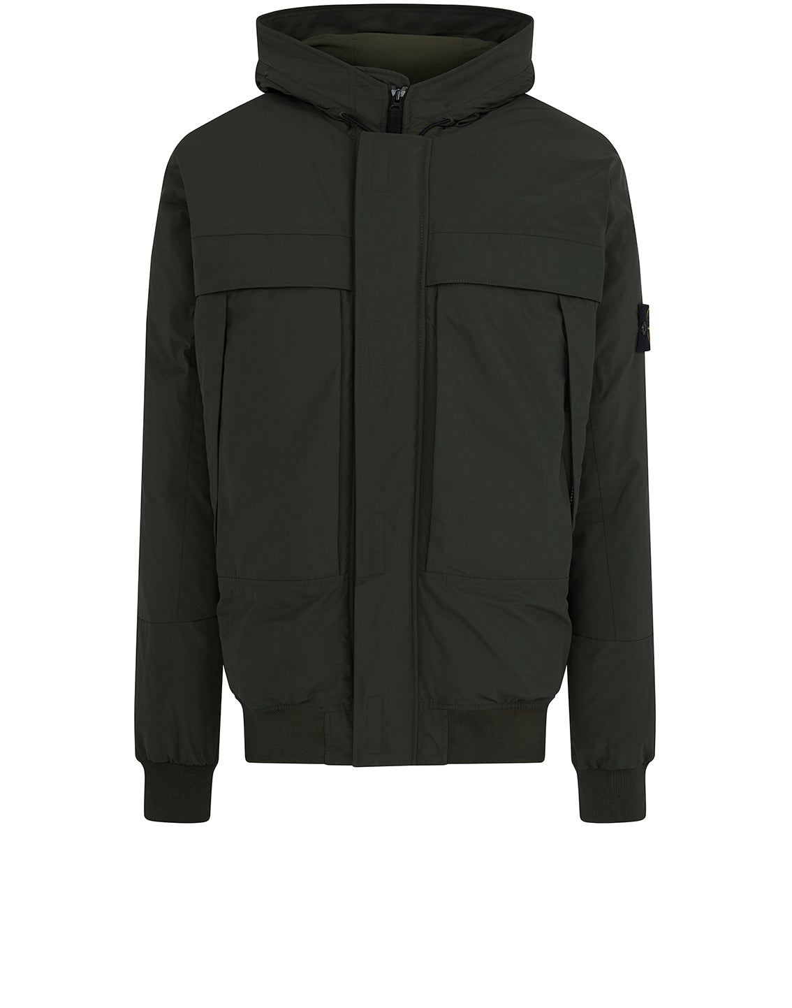 40826 Micro Reps Hooded Down Jacket in Dark Forest