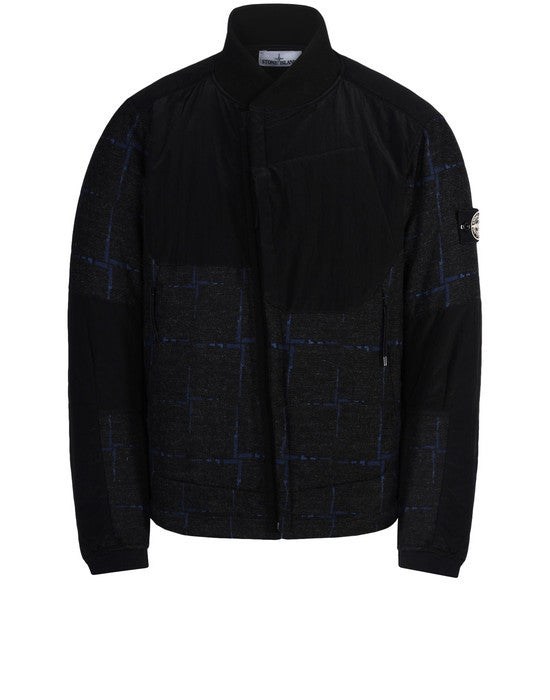 456J5 HOUSE CHECK BY DORMEUIL/NYLON METAL PRIMALOFT® Jacket in Navy