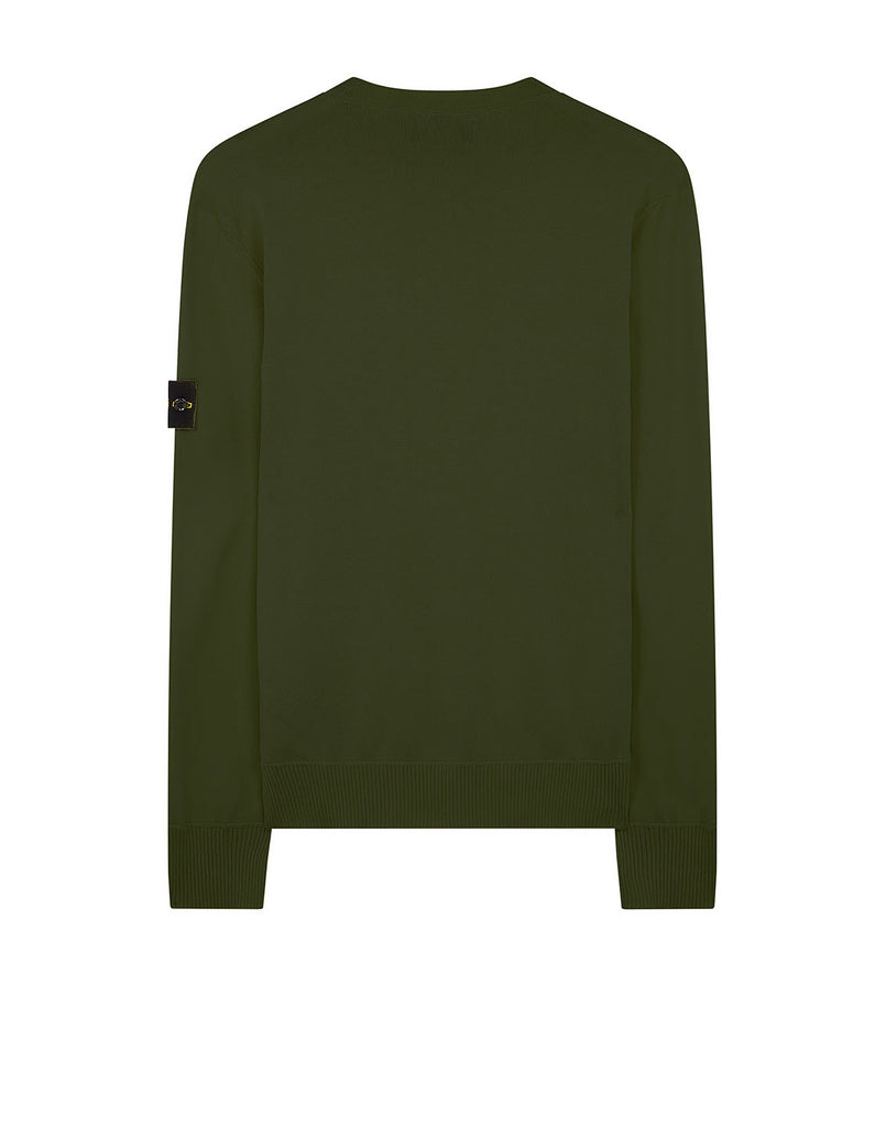 504B2 Garment Dyed Cotton Sweater in Olive