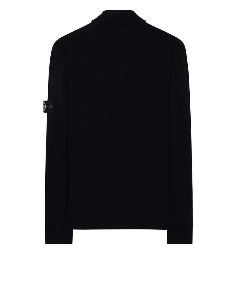 512A1 Knitted Polo Shirt in Black