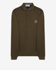 SS162CC15 Cotton Pique Long Sleeve Polo Shirt in Khaki