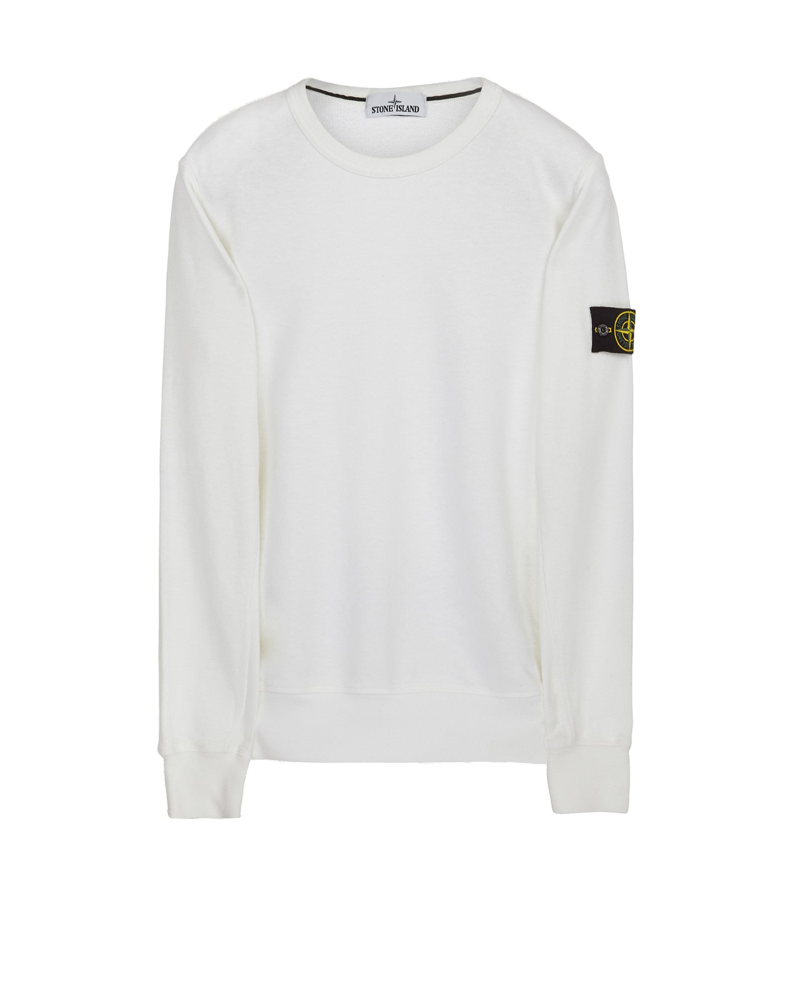 65360 Washed Crew Sweatshirt in White