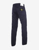 J1BZM Garment Dyed Cotton Satin Trousers in Blue