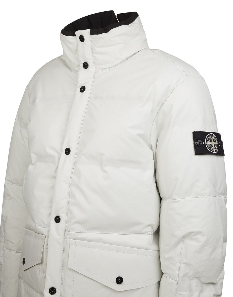 00196 FEATHERWEIGHT LEATHER DOWN Jacket in White