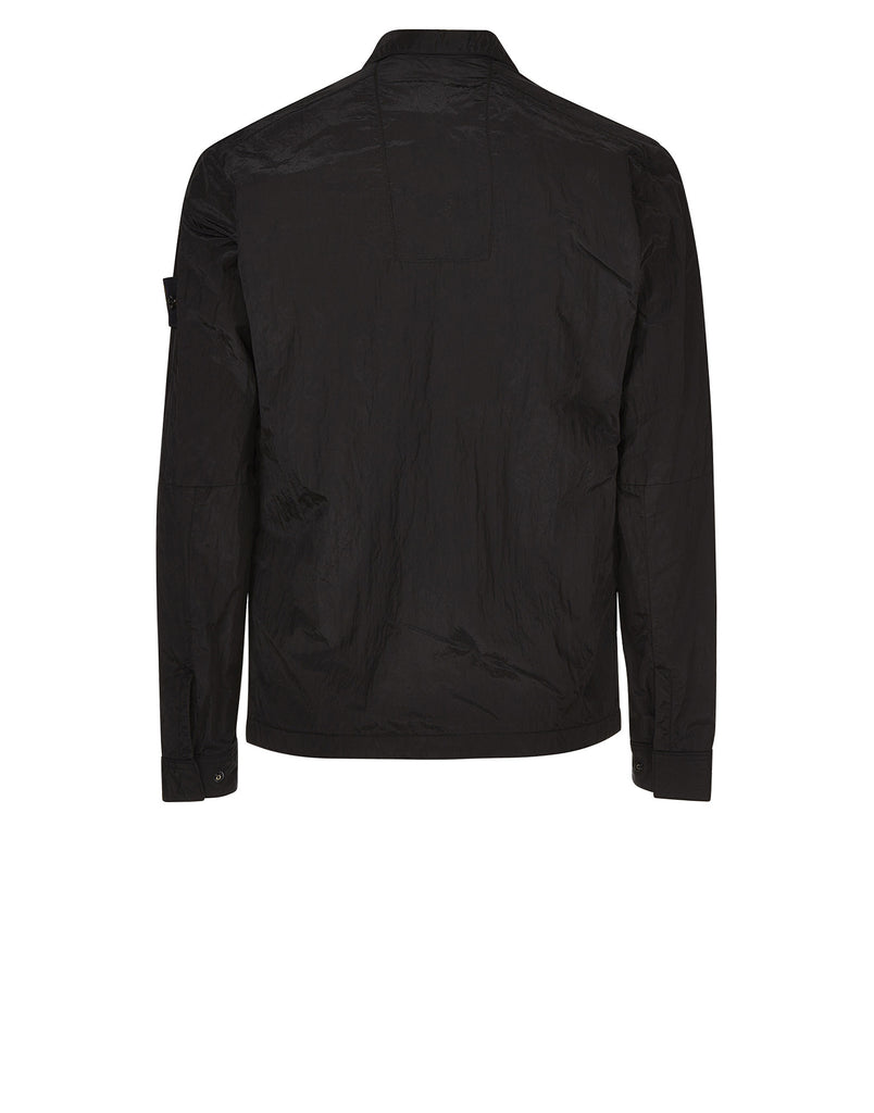 10112 Nylon Metal Overshirt in Black