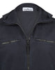 109LN OLD Effect Hooded Overshirt in Navy Blue