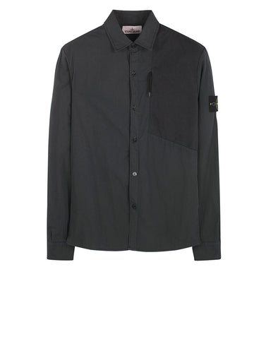 11209 Cotton Overshirt in Black