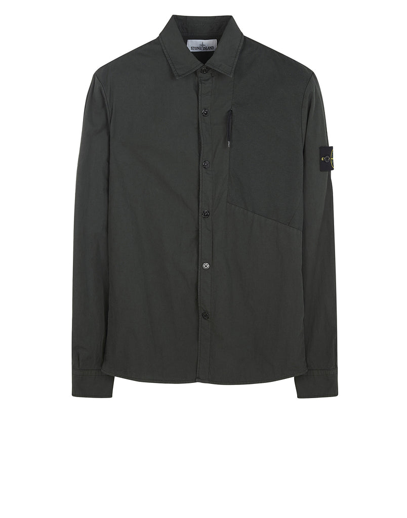 11209 Cotton Overshirt in Green