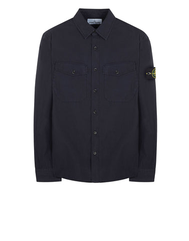 11601 Long Sleeve Cotton Shirt in Navy Blue