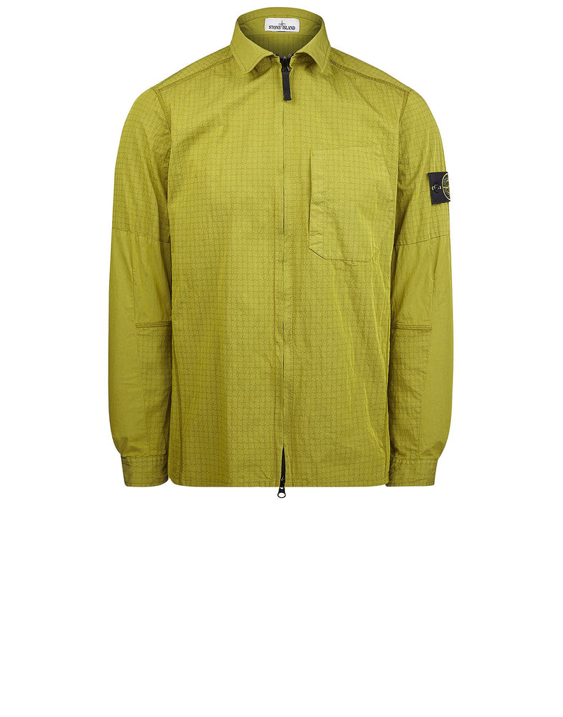 119J1 STONE ISLAND HOUSE CHECK Overshirt in Green