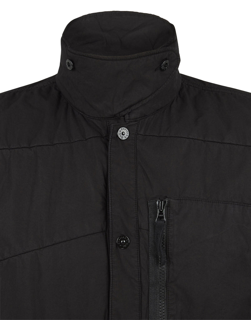 12008 Tela Paracadute Overshirt in Black