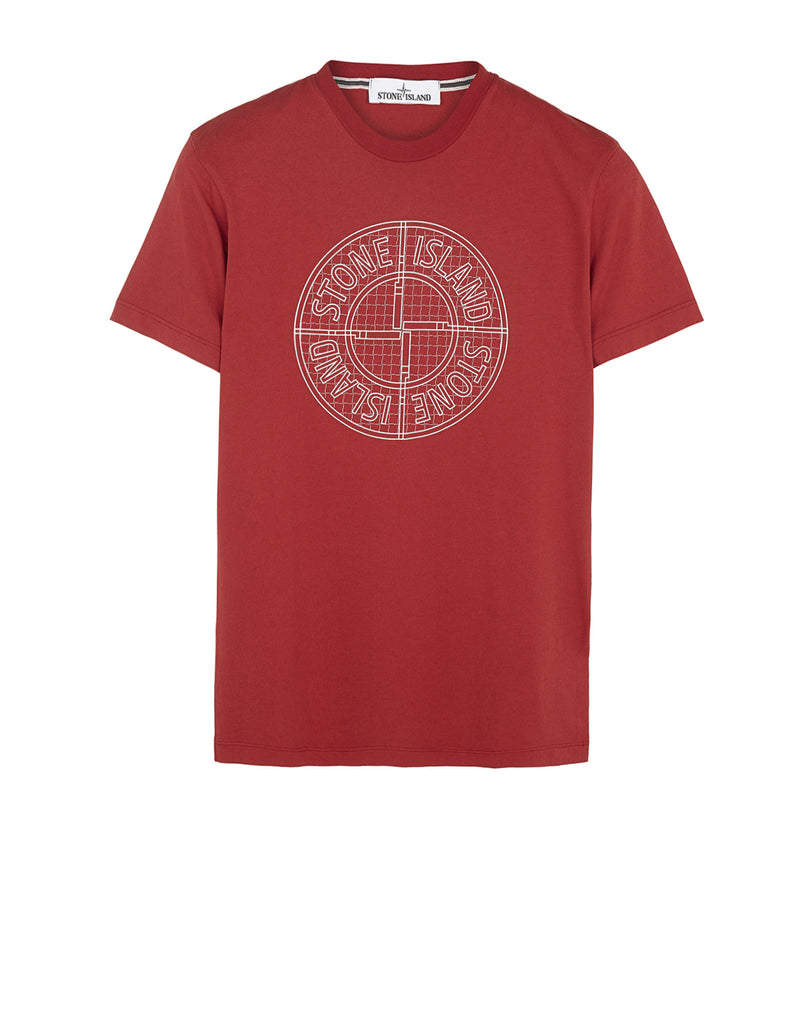20184 'CHECK PIN' T-Shirt in Red