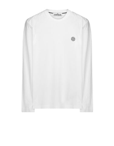 20282 'CHECK GRID' Long Sleeve T-Shirt in White