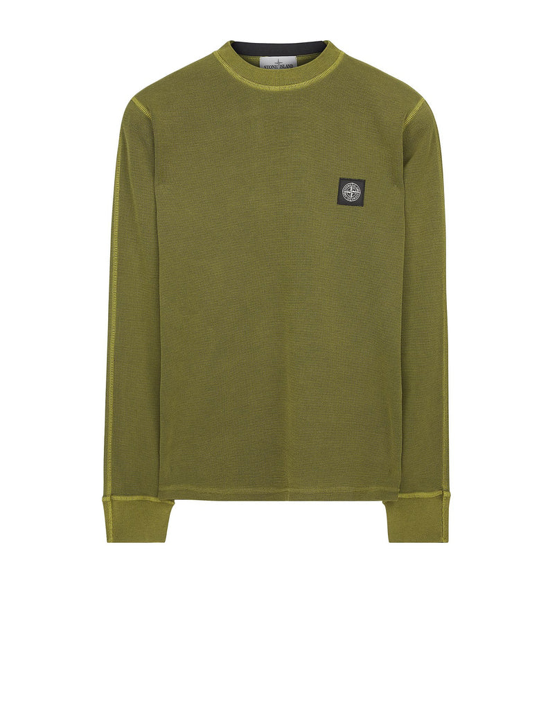 22243 PIGMENT TREATED Long Sleeve T-Shirt in Green