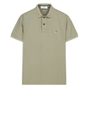 22C15 Cotton Pique Polo Shirt in Green