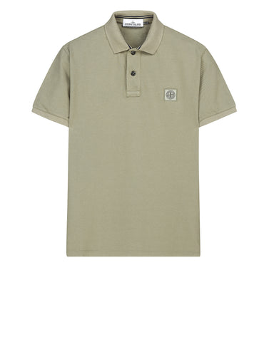 22C15 Cotton Pique Polo Shirt in Sage