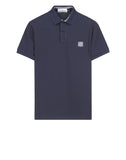 22C15 Cotton Pique Polo Shirt in Blue