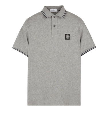 22S18 Slim Fit Polo Shirt in Light Grey