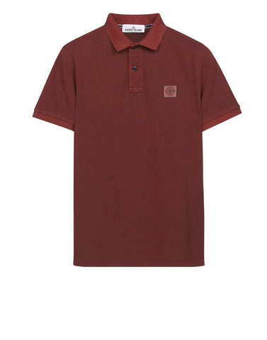 22S67 PIGMENT TREATED Polo Shirt in Red