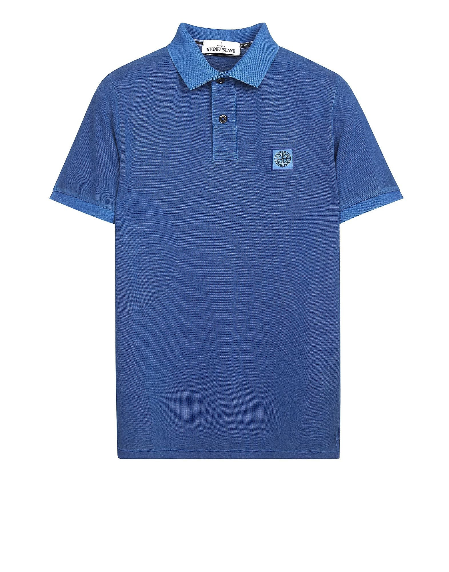 22S67 PIGMENT TREATED Polo Shirt in Blue
