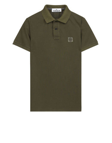 22S67 PIGMENT TREATED Polo Shirt in Khaki