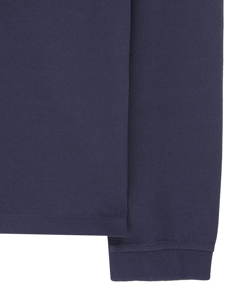 24418 Long sleeve Polo Shirt in Blue