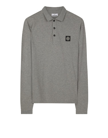 24418 Long sleeve Polo Shirt in Grey