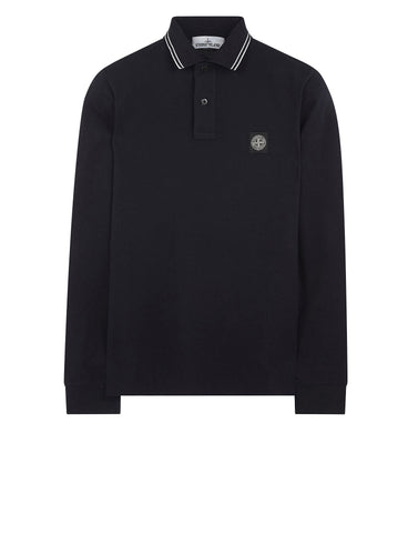 2SS18 Long Sleeve Polo Shirt in Navy Blue