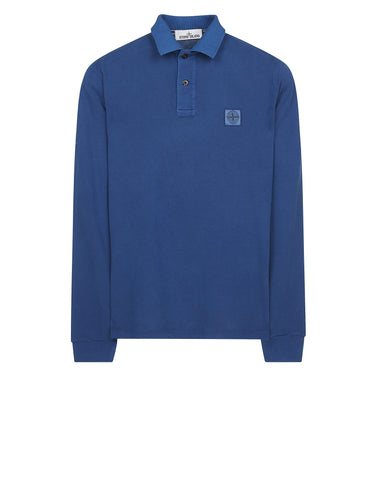 2SS67 PIGMENT TREATED Polo Shirt in Blue