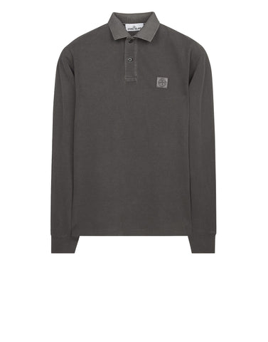 2SS67 PIGMENT TREATED Polo Shirt in Grey