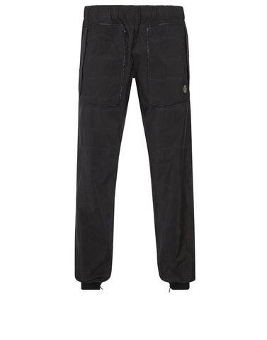 316J4 HOUSE CHECK JACQUARD IN NYLON METAL BLACK WATRO Trousers in Black