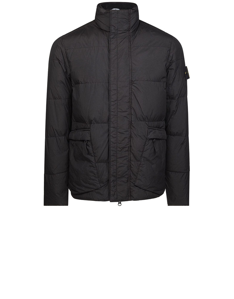 40123 GARMENT DYED CRINKLE REPS NY DOWN Jacket in Black