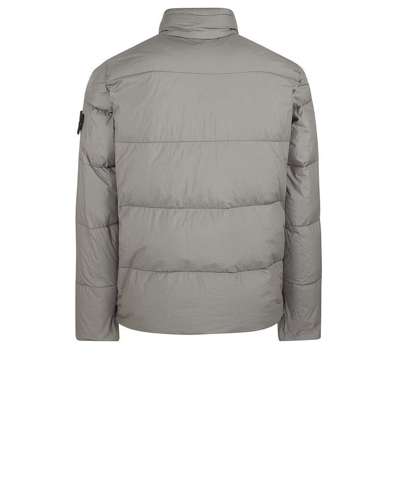 40123 GARMENT DYED CRINKLE REPS NY DOWN Jacket in Grey