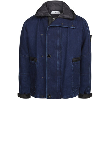 42334 POLYPROPYLENE DENIM / DETACHABLE LINING IN PRIMALOFT® INSULATION TECHNOLOGY Jacket in Blue