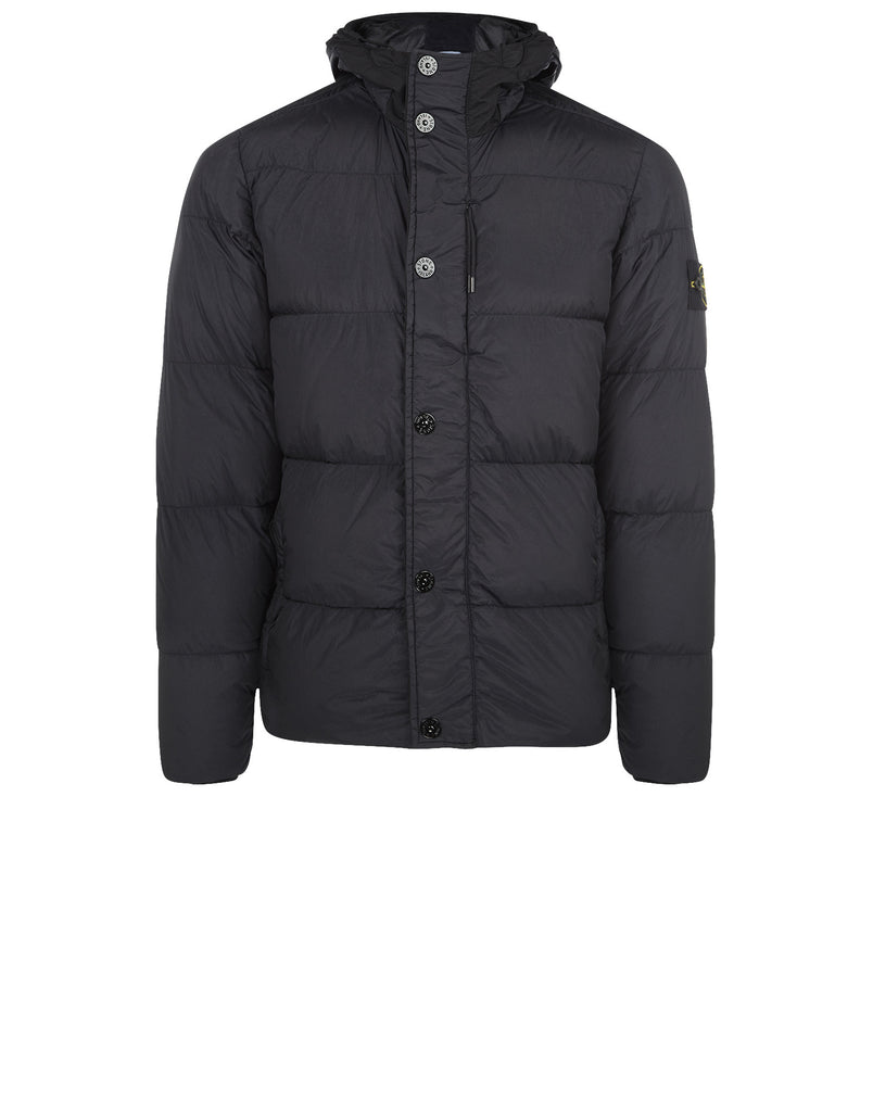 42923 GARMENT DYED CRINKLE REPS NY - DOWN Jacket in Navy Blue