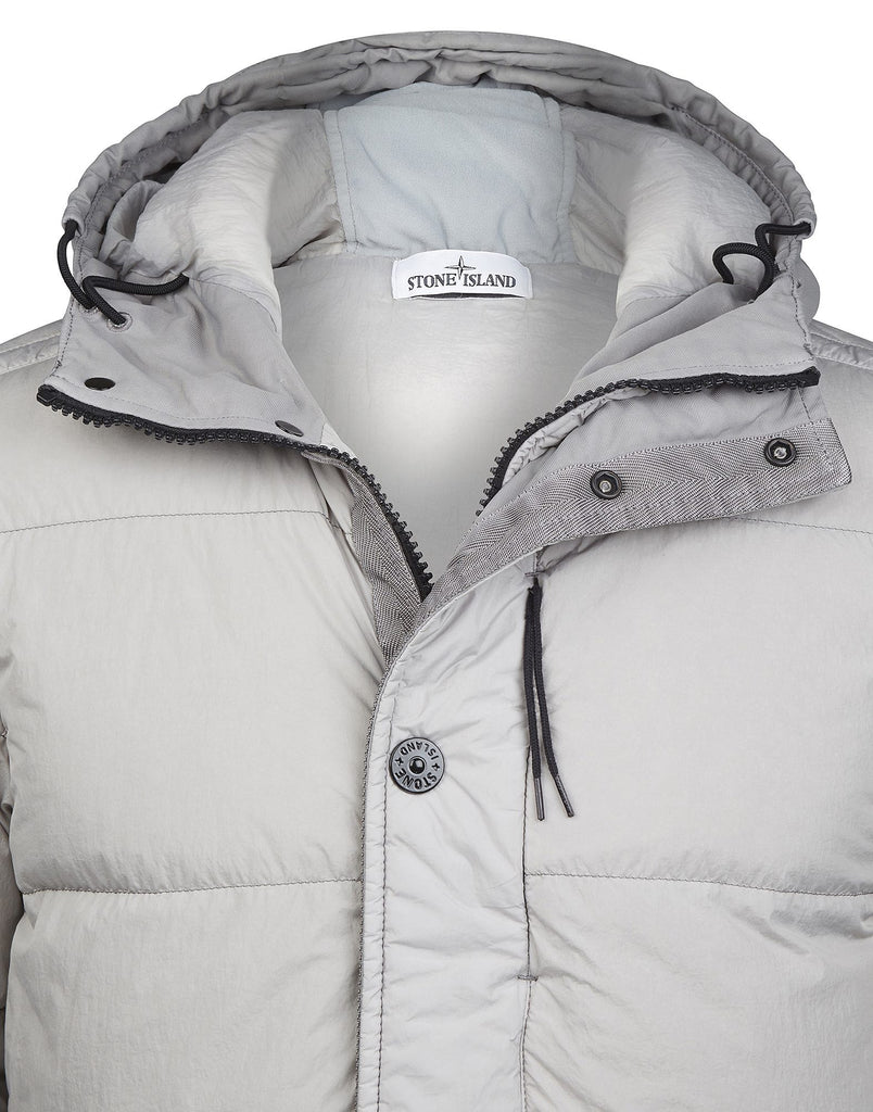 42923 GARMENT DYED CRINKLE REPS NY - DOWN Jacket in Grey