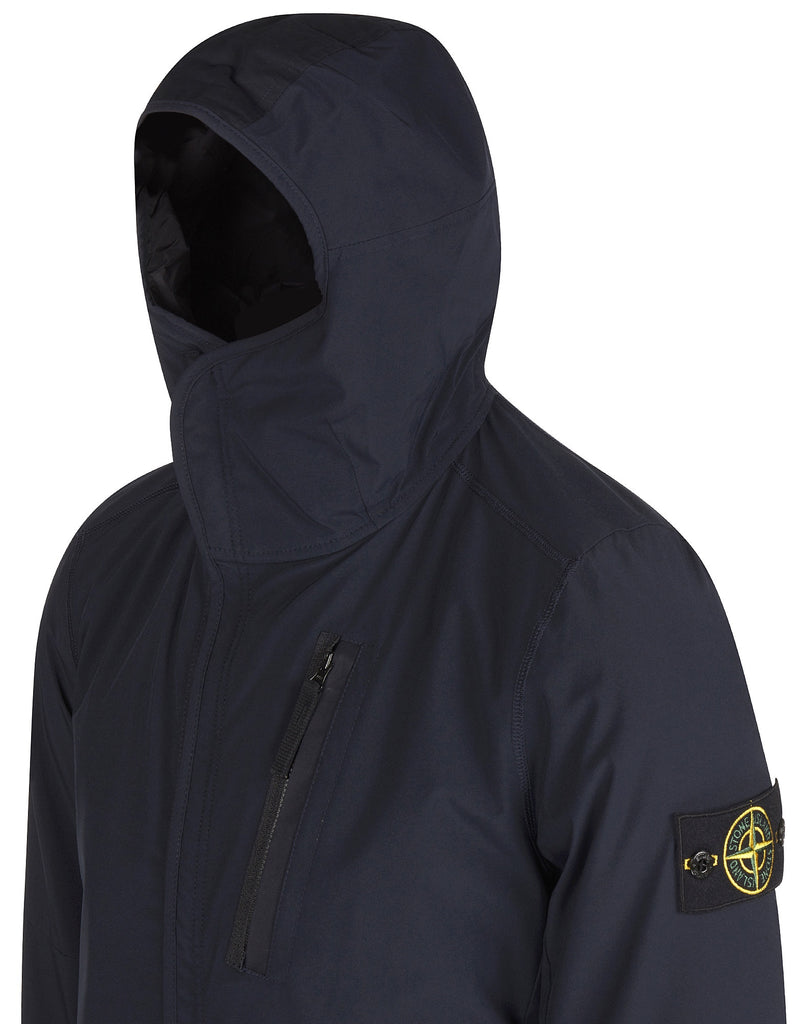 44027 Soft Shell Primaloft Hooded Jacket in Blue
