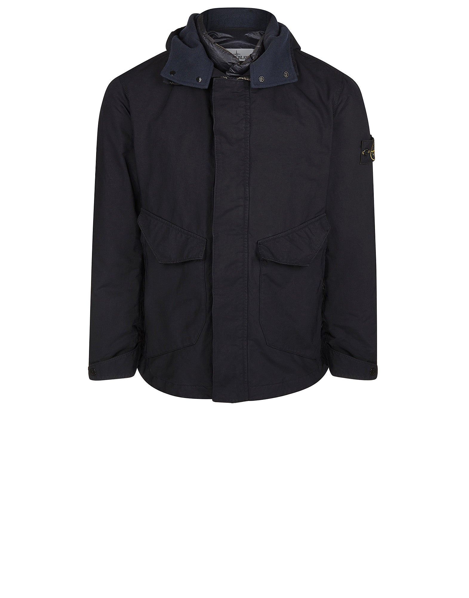 44449 Hooded Jacket in David-TC in Blue