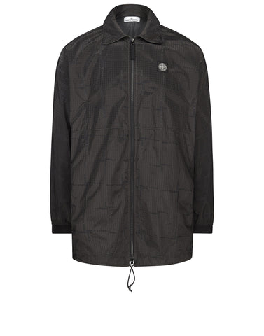 460J4 HOUSE CHECK JACQUARD ON NYLON METAL BLACK WATRO Jacket in Grey