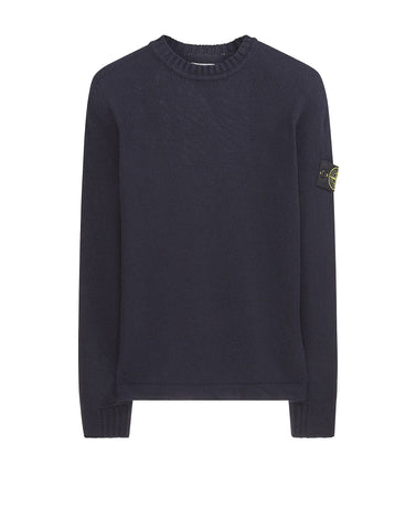 503A3 Lambswool Crew Neck Sweatshirt in Navy