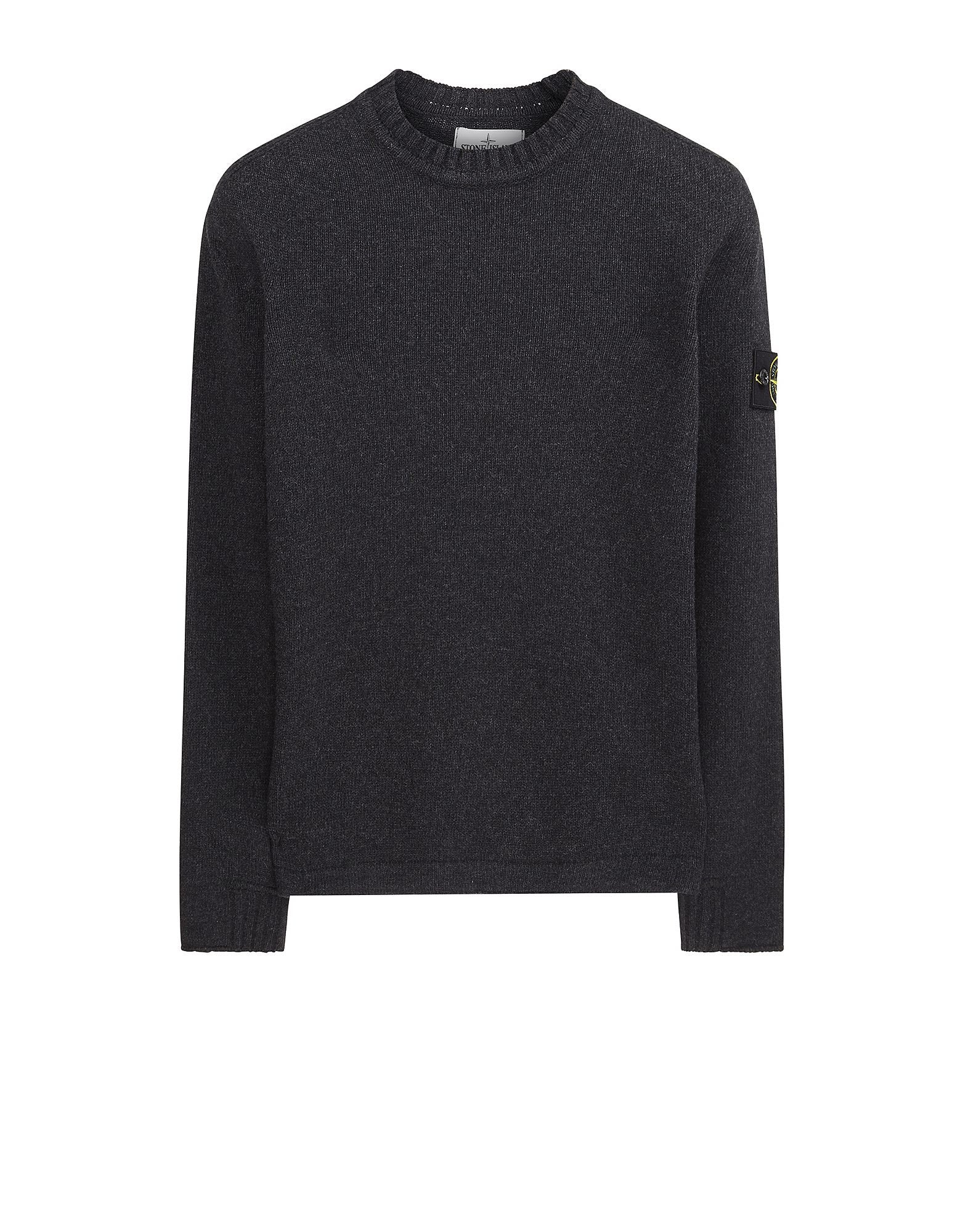 503A3 Lambswool Crew Neck Sweatshirt in Grey