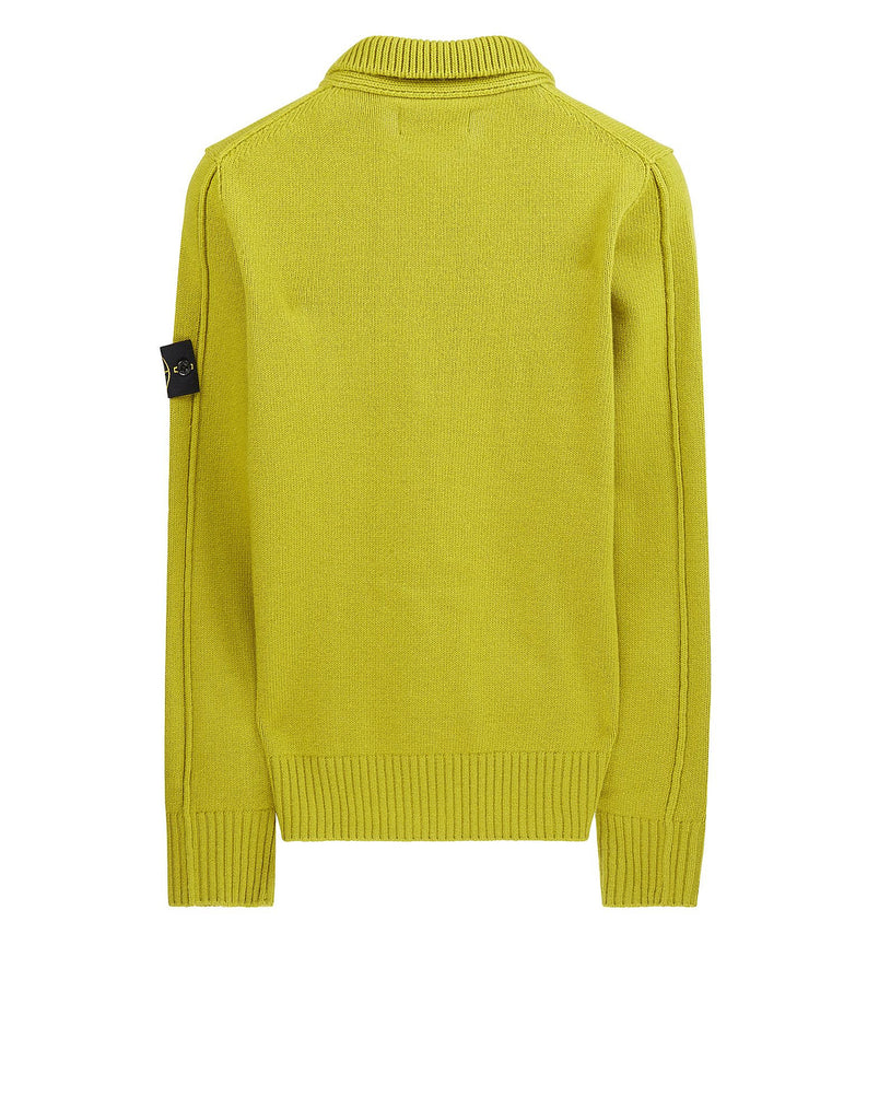 508A3 Lambswool Half Button Knit in Yellow