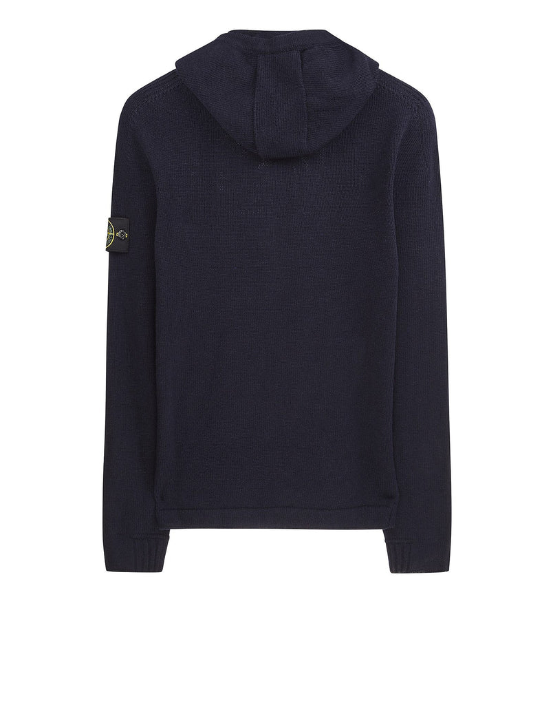 534A3 Hooded cardigan knit in Navy Blue