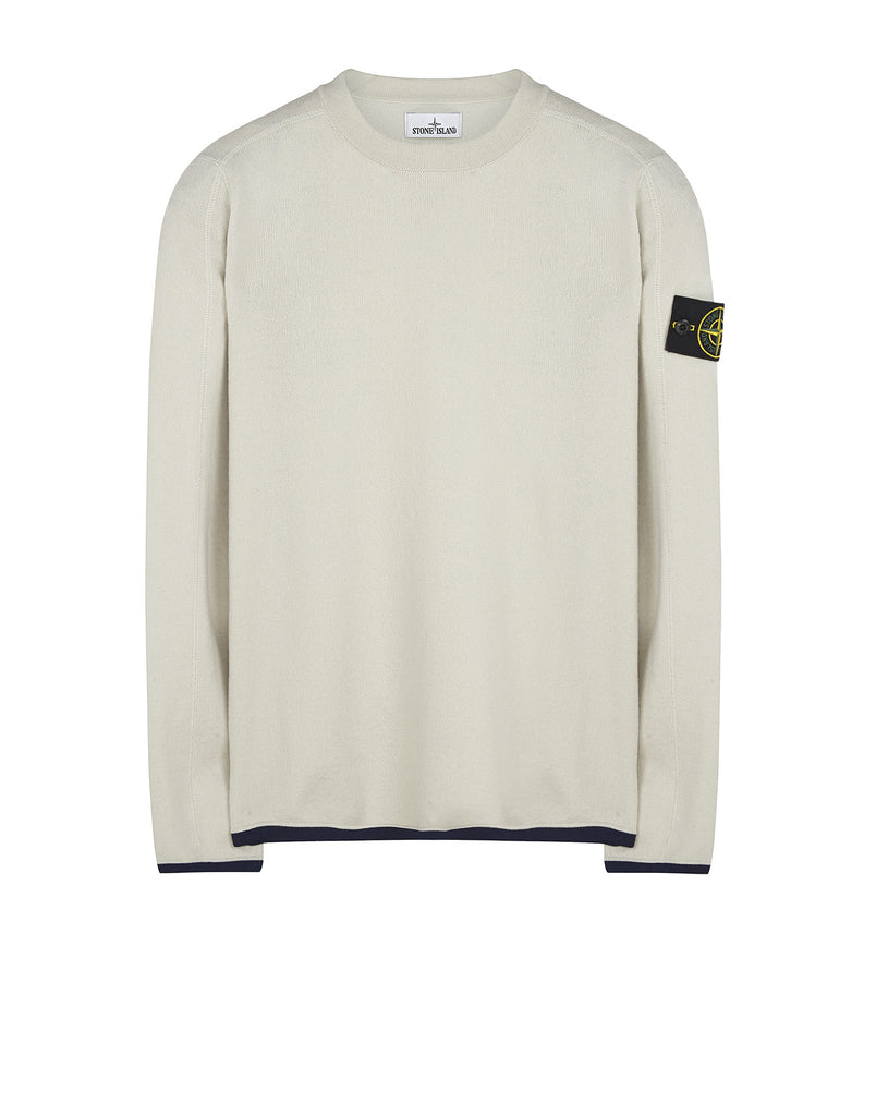 542A1 Crewneck Wool Knit in White