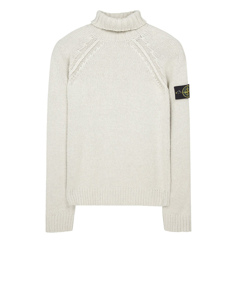 546D6 Turtleneck Knit in Light Grey