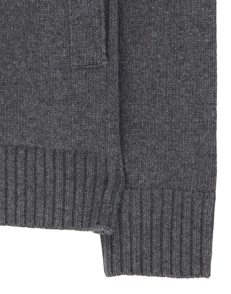 550A3 Lambswool Cardigan Knit in Grey