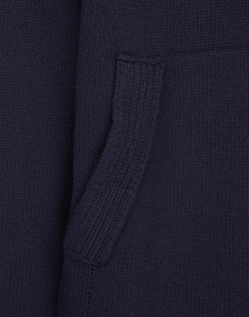 584A3 Hooded Knit in Navy Blue