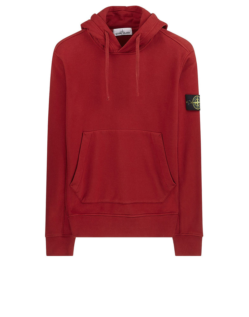 60520 Garment Dyed Hooded Sweatshirt in Red